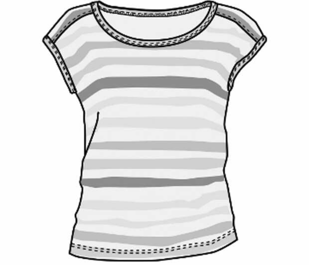 Стандартная выкройка футболки
