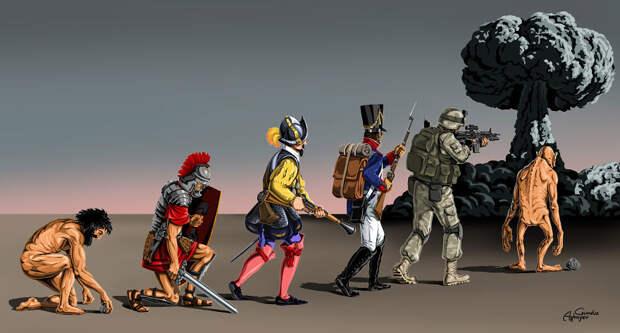 """""""Война и мир"""" – новая серия политических иллюстраций от скандального Гундуза Агаева"""
