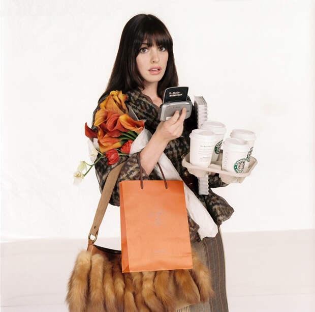 Энн Хэтэуэй (Anne Hathaway) в фотосессии для фильма Devil Wears Prada (2006), фото 2