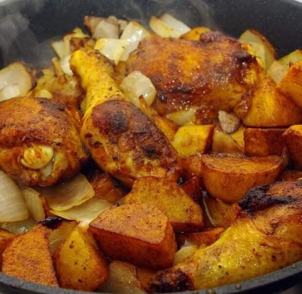 Софрито или курица с картошкой и луком