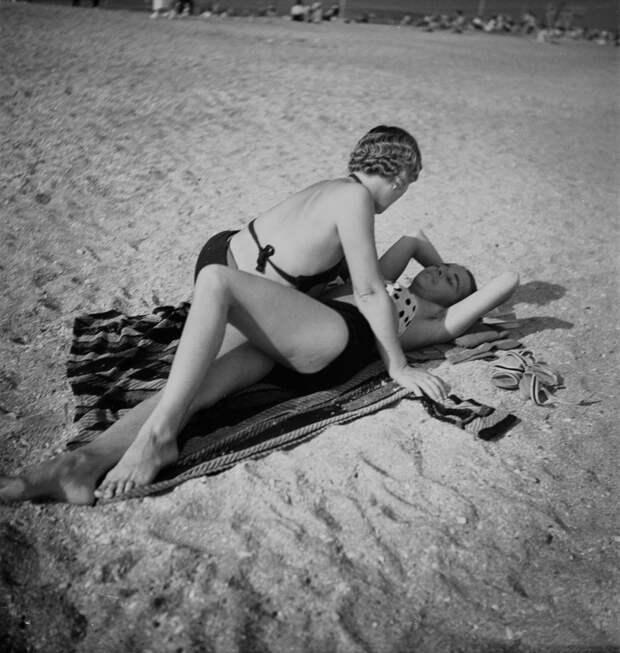 Пляж в Довиле
