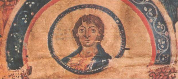 Христос в медальоне.