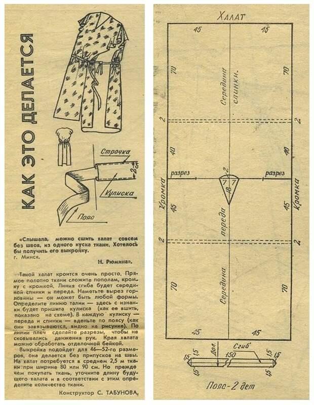 Платье - халат (выкройка)