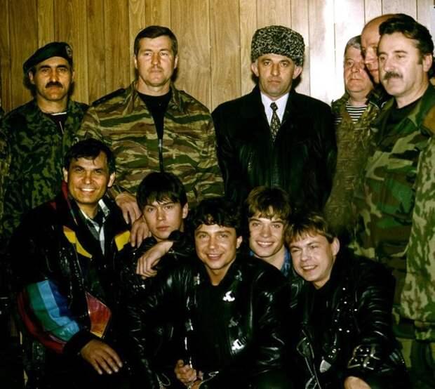 "Группа ""На-На"" в Чечне. 1996 год."
