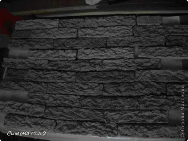 Интерьер Мастер-класс Папье-маше Процесс декорирования стены камнем из бумаги Бумага фото 6