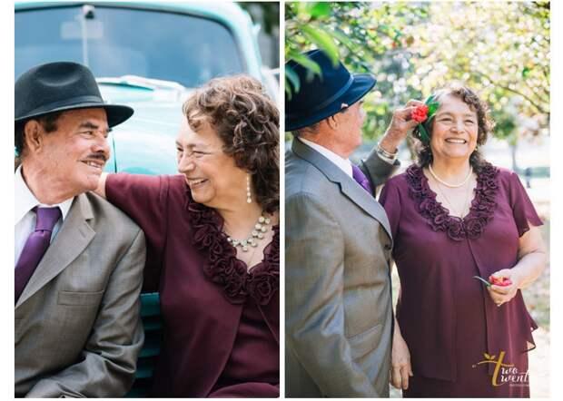 5. 60-ая годовщина свадьбы вера, любовь, пара