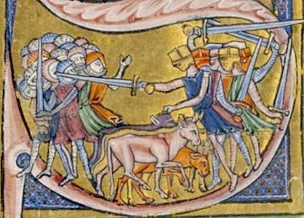 Битва с участием Раймунда Сен-Жильского. <br>