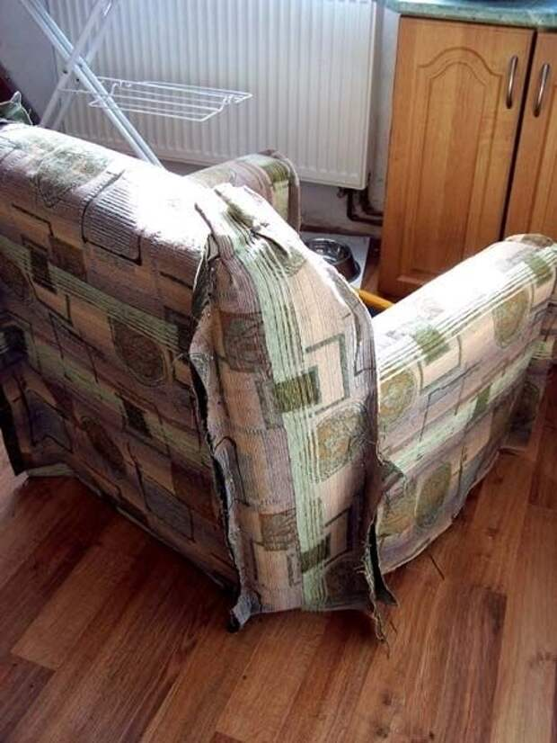 Как обновить старое кресло. Меняем обивку сами (15) (450x600, 145Kb)
