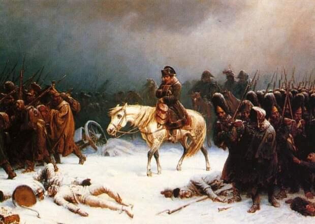 Наполеон с армией зимой