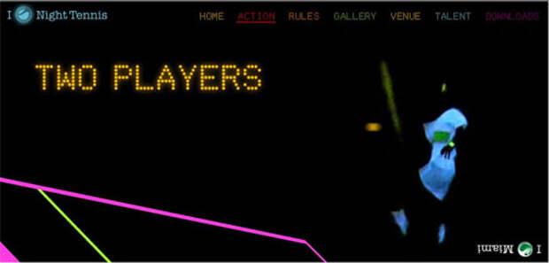 Ночной теннис от  SonyEricsson -  телефон не вырони!