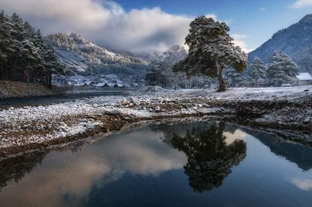 Зеркала зимы  Село Чемал и одноименная река, Республика Алтай