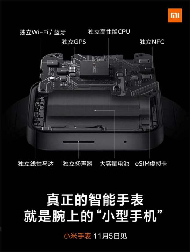 Первые «умные» часы Xiaomi практически не отличаются от Apple Watch