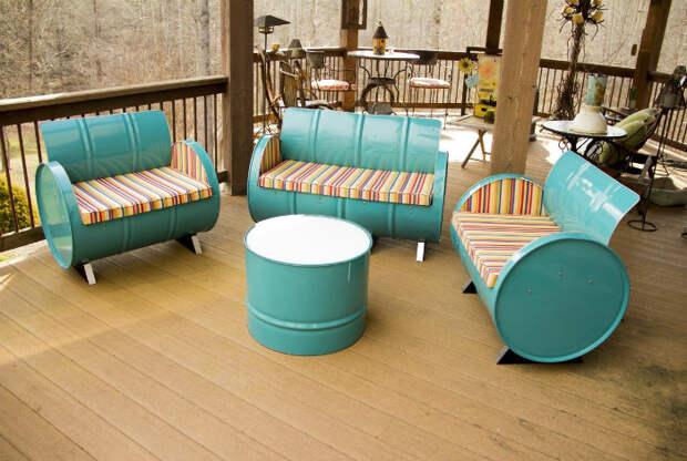 Комплект мебели для патио| Фото: Pinterest.