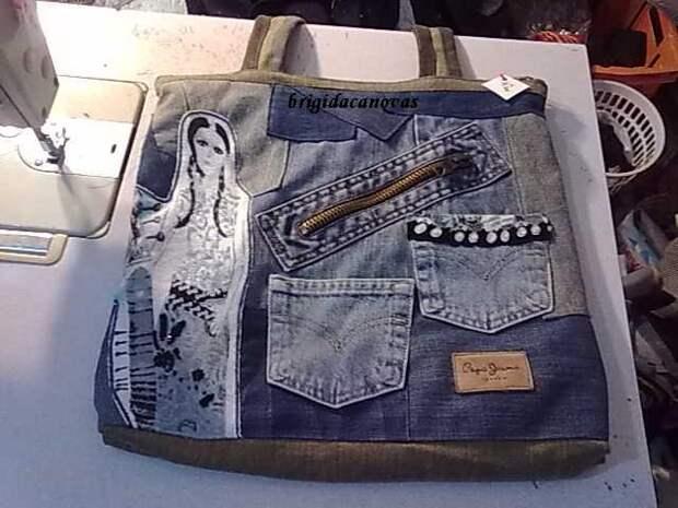 Сшив кусочки джинсовой ткани, у вас может получиться симпатичная вещица