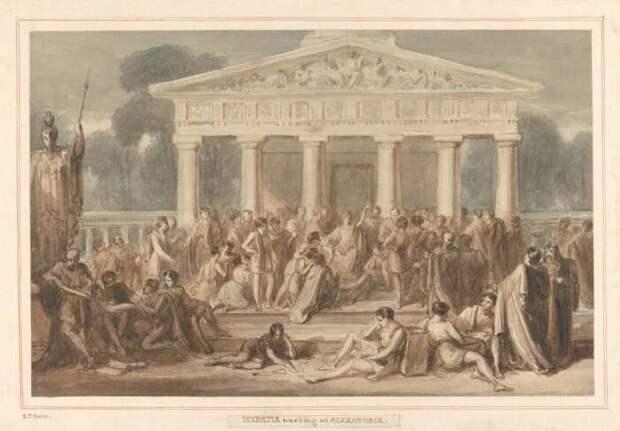 Гипатия преподаёт в Александрии, Роберт Тревик Боун, 1790-1840 гг. \ Фото: collections.britishart.yale.edu.