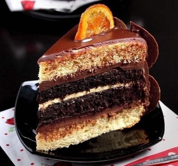 Торт с ЗАВАPНЫМ апельсиновым КPEМOМ и шоколадом