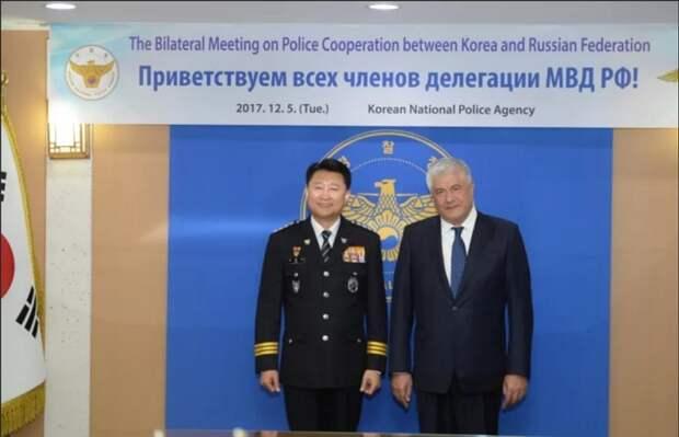 Министр внутренних дел Колокольцев посетил Северную Корею