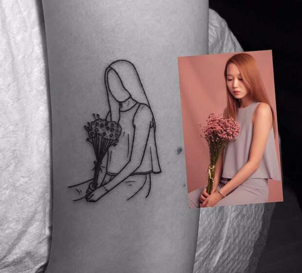 Ничего лишнего: 20 лаконичных татуировок от мастера минимализма из ЮжнойКореи