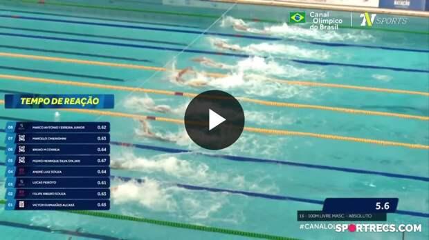 Pedro Spajari e André Calvelo garantem vaga em Tóquio nos 100m Livre Masculino - Dia 4 do Pré-Olímpico de Natação (22/04/2021)