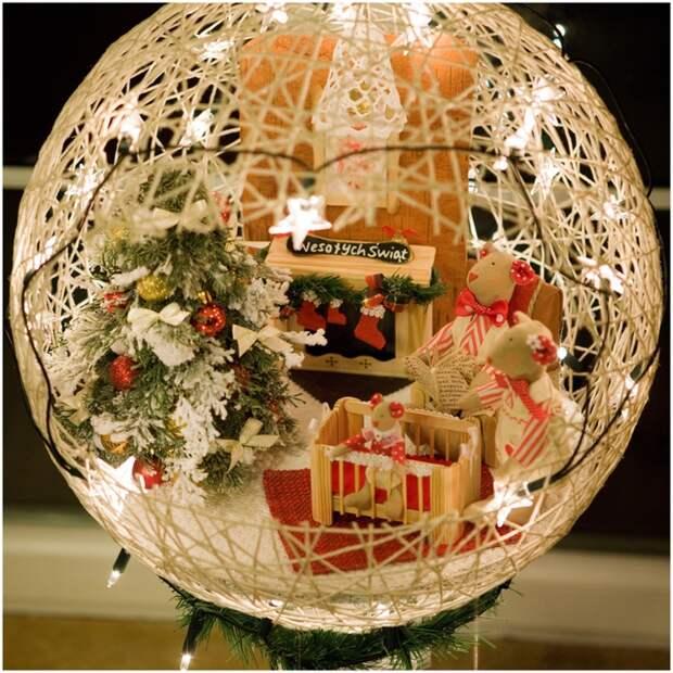 Замечательный ночник и новогодние елочные игрушки из ниток (23) (700x700, 447Kb)