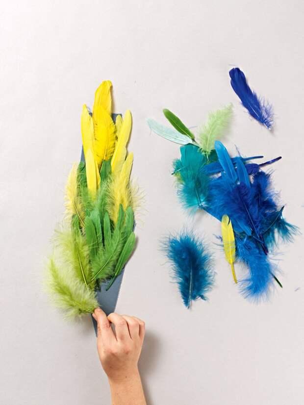 Новогодний клатч с перьями (Diy)