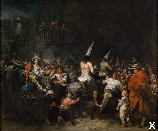 Осужденные инквизицией. Картина Эухен...