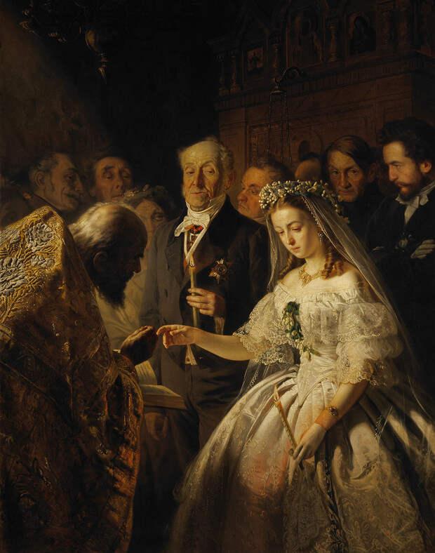 История, стоящая за картиной «Неравный брак»