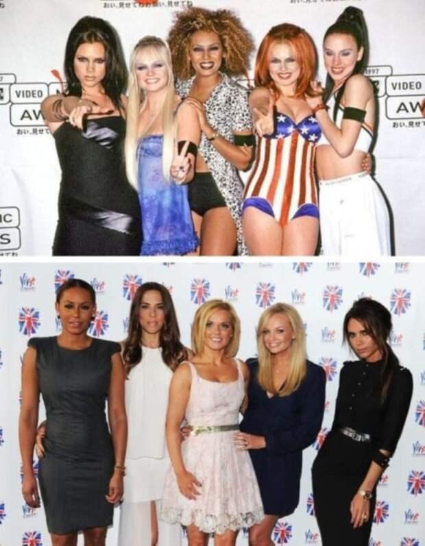Участницы группы *Spice girls* тогда и сейчас | Фото: fishki.net