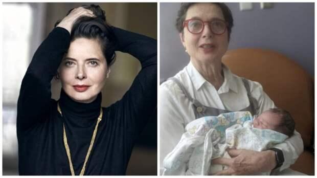 Изабелла Росселини стала бабушкой во второй раз
