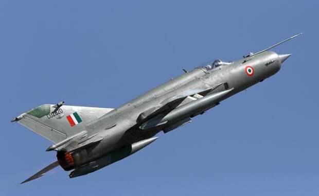 На фото: МиГ-21 ВВС Индии