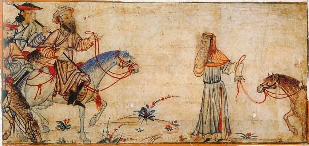 Жизнь монгольской элиты в иллюстрациях Джами ат-Таварих (Сборник летописей) начало 14 века.