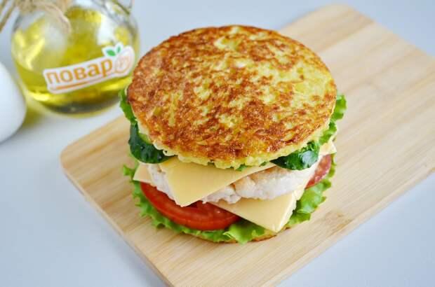 Сборка картофельного сэндвича, шаг 5