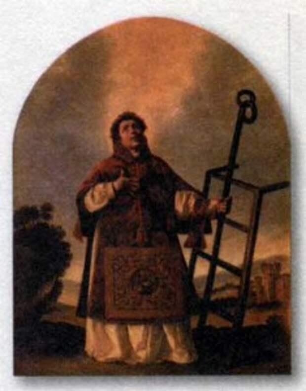 Святой Лаврентий. Художник Ф. де Сурбаран. Ок. 1658 г