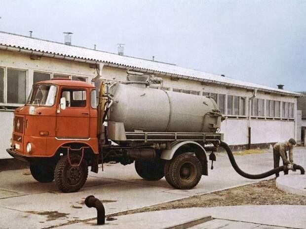 Ассенизационная установка на шасси IFA W50 СССР, автомобили, советская техника, советские машины