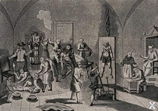 Пытки испанской инквизиции. Конец XVI...