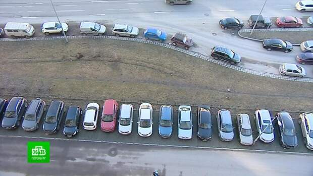 Петербуржцы бьются за единственную парковку у дома, которую хотят превратить в газон