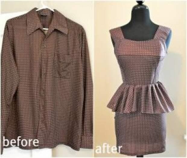 Идеи переделки вещей - что можно сшить из мужской рубашки (более 40 примеров)