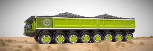 Так будет выглядеть самая грузоподъёмная модификация с восьмью осями. ETF Mining Equipment, авто, белаз, гигант, грузовик, карьерный самосвал, самосвал, спецтехника