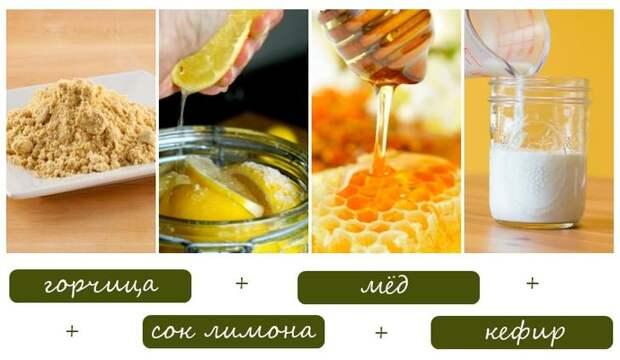 Маска для роста волос с горчичным порошком и медом