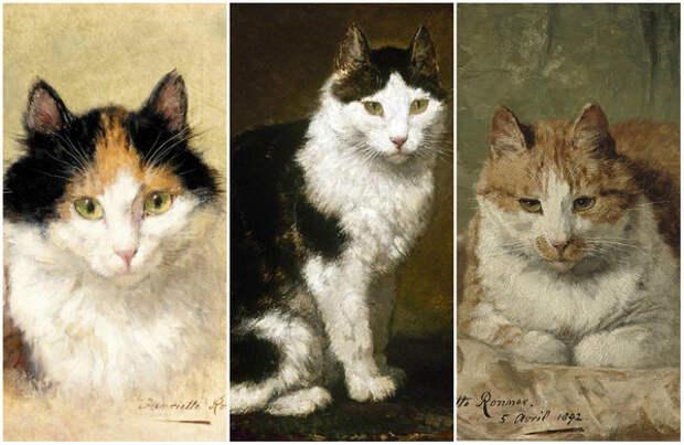Герои кошачьих портретов Генриетты Роннер-Книп – настоящие личности.