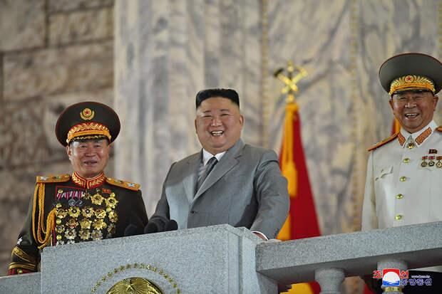 Речь Ким Чен Ына на параде в честь 75-летия ТПК