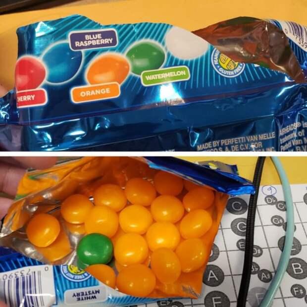 пачка с конфетами