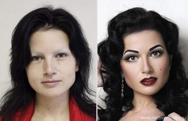 makeup13 Невероятно, но факт: визажист творит настоящие чудеса!