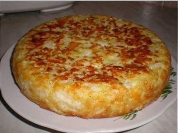 Пирог«Шарлотка с капустой»