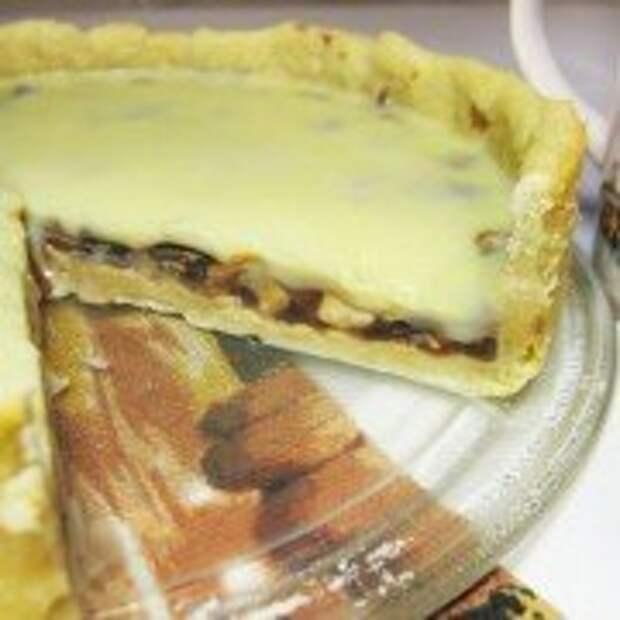 Пирог с орехами и ириской под белым шоколадом - финал
