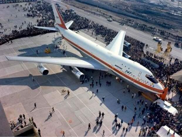 Презентация Boeing 747-100 в Эверетте, штат Вашингтон, 30 сентября 1968 года