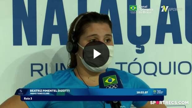 Beatriz Dizotti fala sobre o novo recorde brasileiro e recebe o passaporte olímpico - Dia 4 do Pré-Olímpico de Natação (22/04/2021)