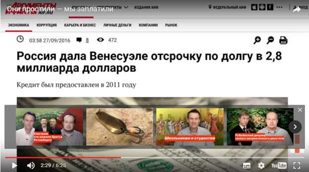 Навальный просчитался: с Венесуэлой вышла дорогостоящая осечка