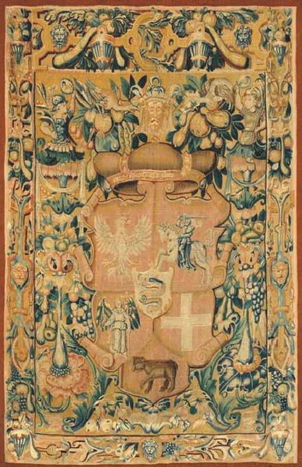 Гобелен с гербом Сигизмунда II Августа — великого князя литовского и короля польского. 1544 год - «Взятье полоцкое литовские земли…»: перед большой грозой | Warspot.ru