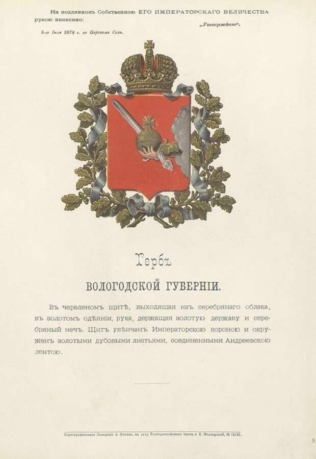 Гербы всех губерний и областей Российской империи